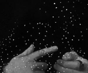 art, black and white, and magic image