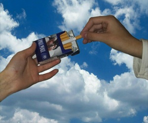 cigarette and clouds image