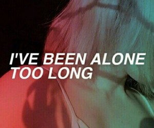 alone, grunge, and quotes image