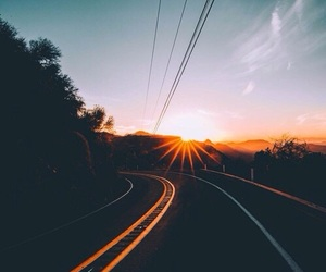 travel, sunset, and love image