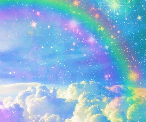 clouds, rainbows, and magical image