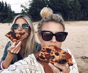 pizza and girls image