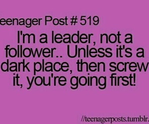 leader, quote, and teenager post image