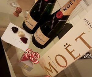 night, love, and moet image