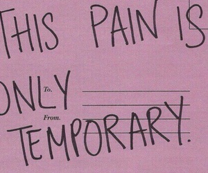 pain, quotes, and pink image