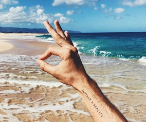 beach, tattoo, and summer image