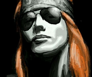 guns and roses, metal, and paints image