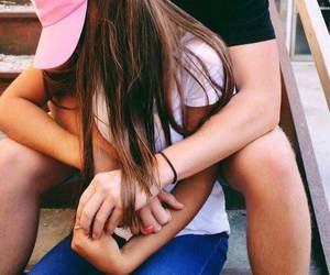 couples, goals, and hug image