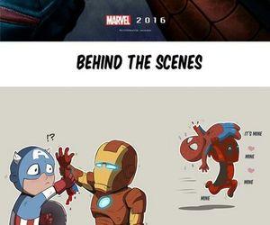 iron man, Marvel, and capitan america image
