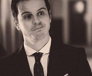 sherlock, moriarty, and andrew scott image