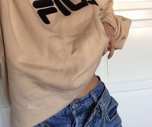 Fila, aesthetic, and beige image