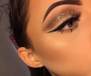 makeup, glitter, and make up image