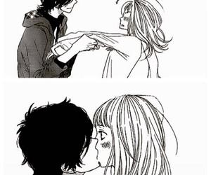 love, kiss, and anime image