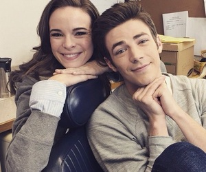 grant gustin, the flash, and danielle panabaker image