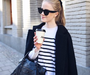 blogger, blonde hair, and coffee image