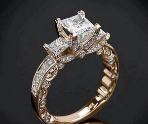 ring, gold, and wedding image