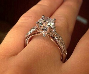 diamond, engaged, and ring image