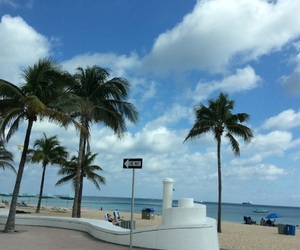 beach, clouds, and Miami image