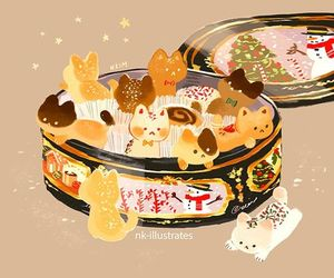 box, cats, and Cookies image