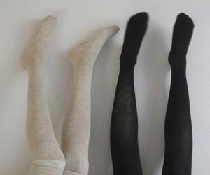 black, socks, and legs image