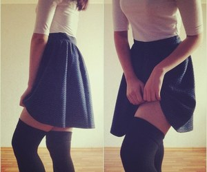 fashion, knee socks, and legs image