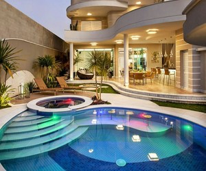 home, luxury, and pool image