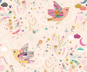 animal, floral, and background image