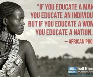quote and african proverb image