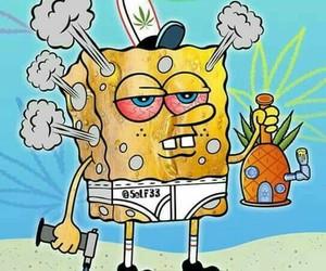 weed, spongebob, and smoke image
