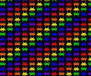 background, invaders, and pattern image