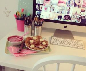 food, pink, and apple image
