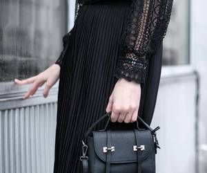 fashion, black and white, and street style image