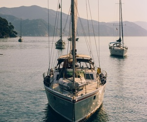 boat, travel, and coast image
