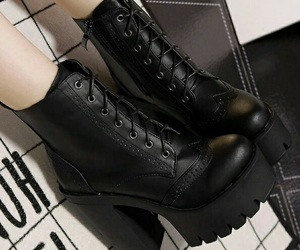 black, aesthetic, and boots image