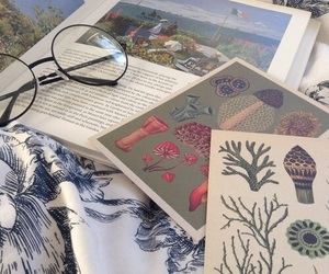 book, glasses, and art image