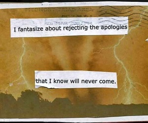 apology, quotes, and fantasize image