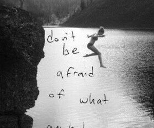 quote, weird, and afraid image
