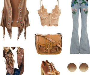 hippie, jeans, and moda image