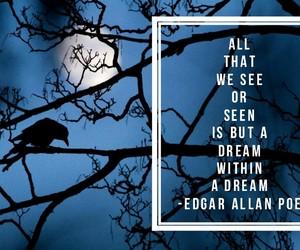Dream, edgar allan poe, and poem image