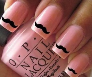 mustache, opi, and nails image