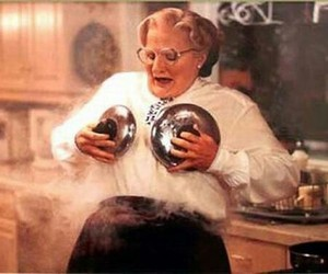 mrs doubtfire, funny, and robin williams image