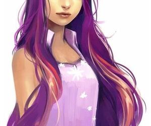 anime girl, human, and MLP image