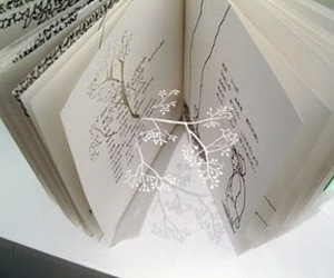 book, tree, and art image