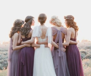 wedding, dress, and bridesmaid image
