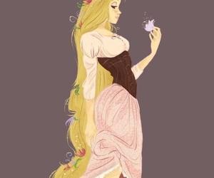 rapunzel, disney, and art image