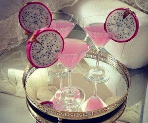 drink, pink, and cocktail image