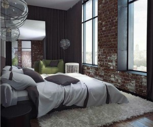 bedroom, home, and modern image