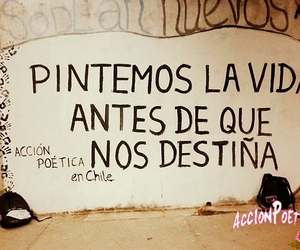 frases, accion poetica, and chile image