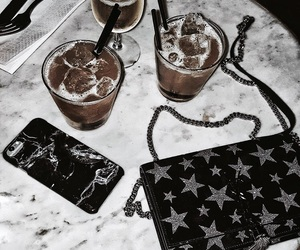purse, accessories, and drink image