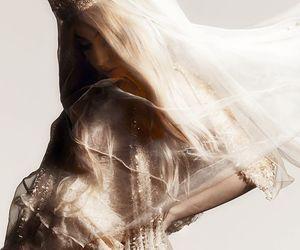 dress, fashion, and gold image
